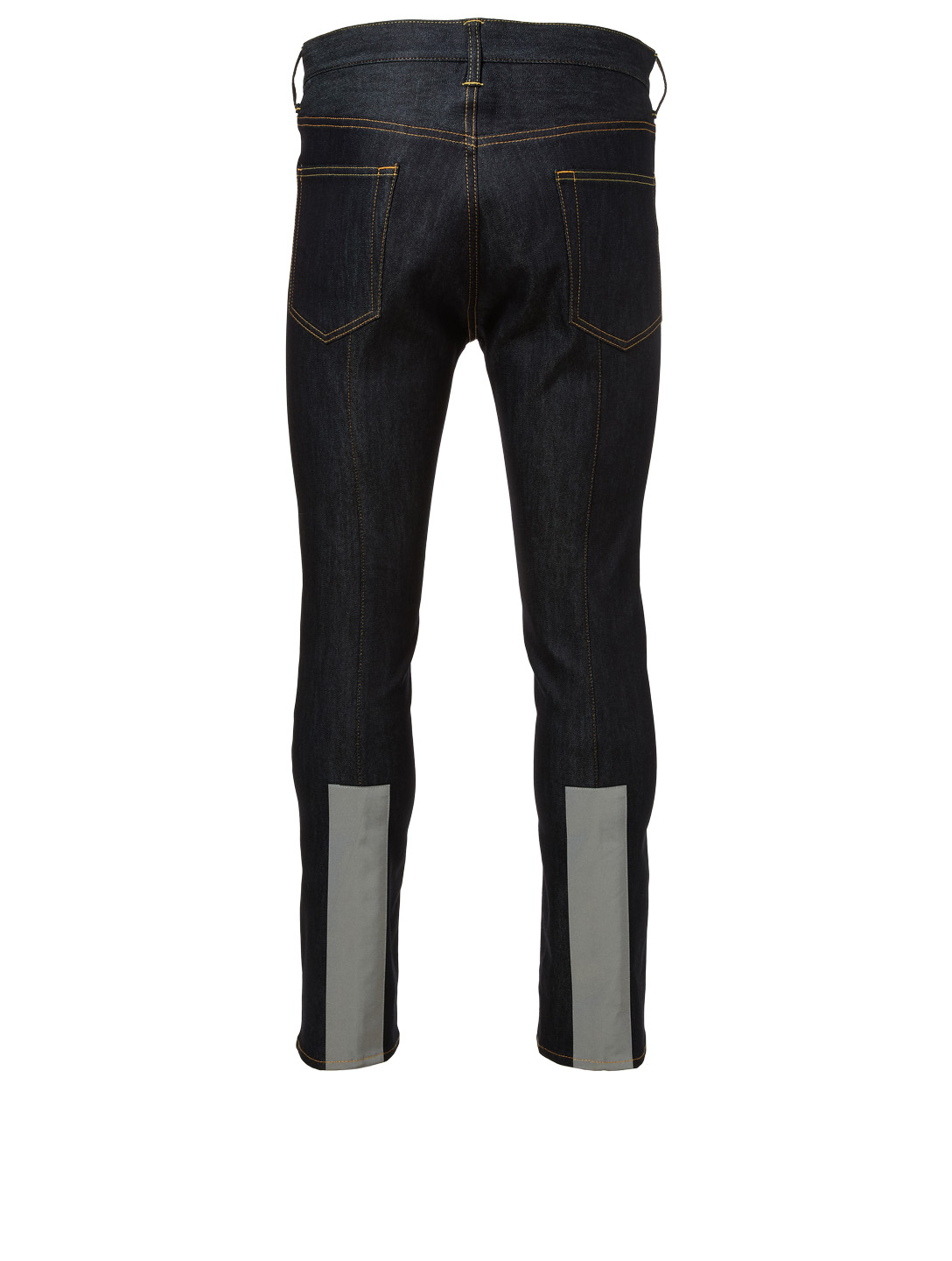 JUNYA WATANABE Cropped Jeans With Reflective Tape Men's Blue