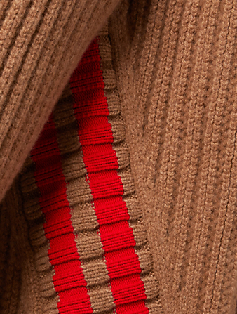 JIL SANDER Wool Sweater With Stripe Detail Men's Neutral