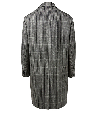 CALVIN KLEIN 205W39NYC Wool Oversized Coat In Check Men's Grey