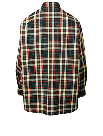 CALVIN KLEIN Oversized Shirt in Check Men's Brown