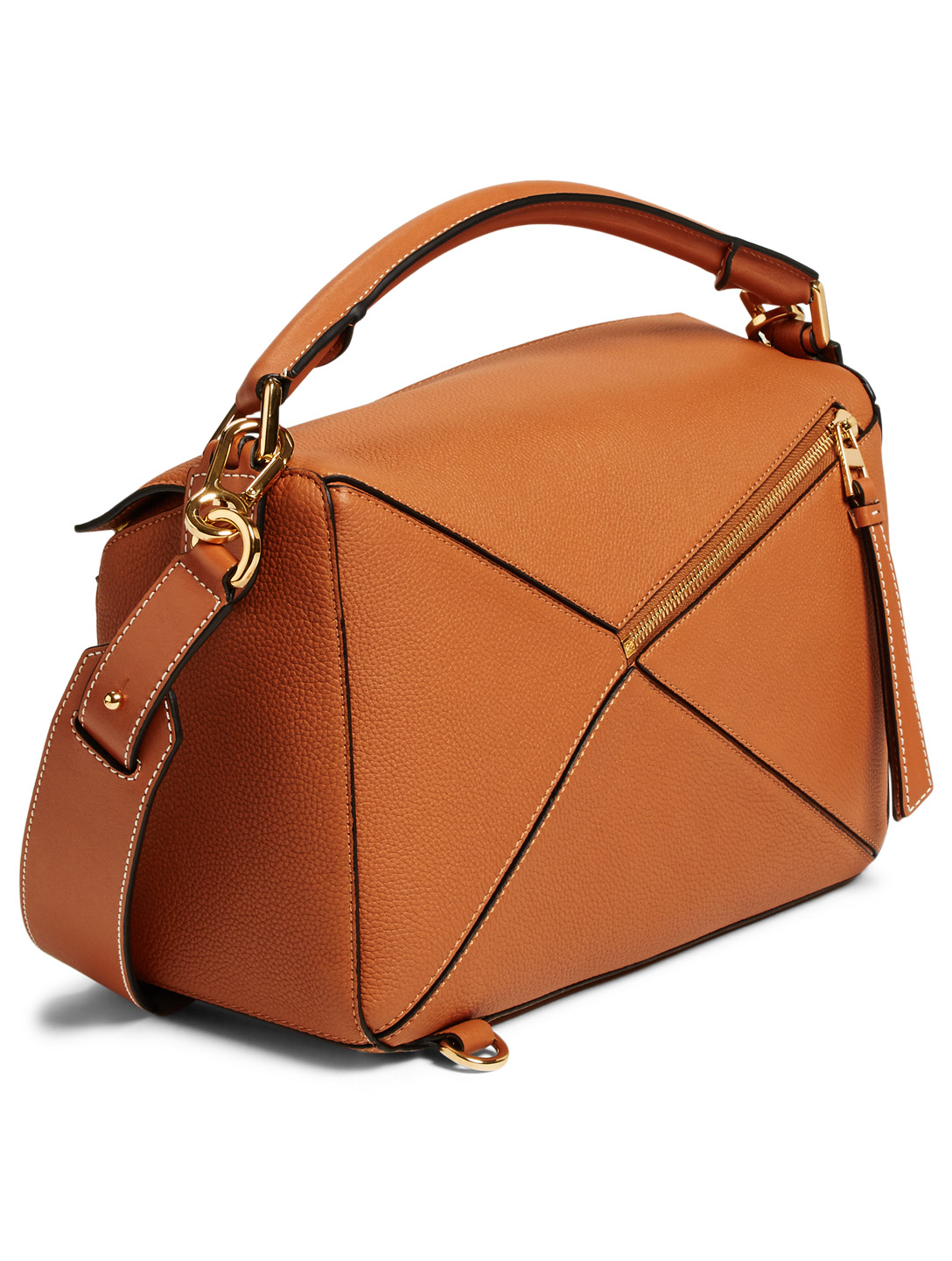 LOEWE Puzzle Leather Bag Women's Neutral
