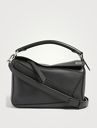 LOEWE Small Puzzle Leather Bag Women's Black