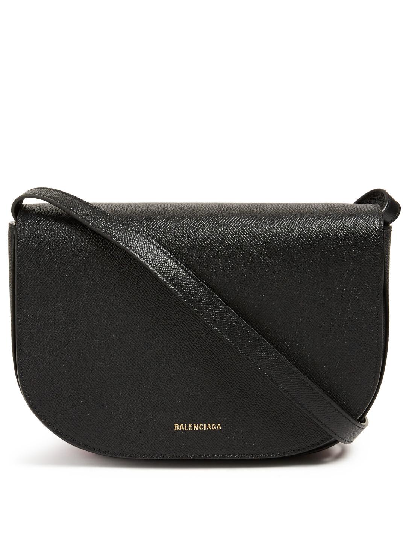 1200c3f40 BALENCIAGA Ville Day Leather Crossbody Bag Women's Black ...