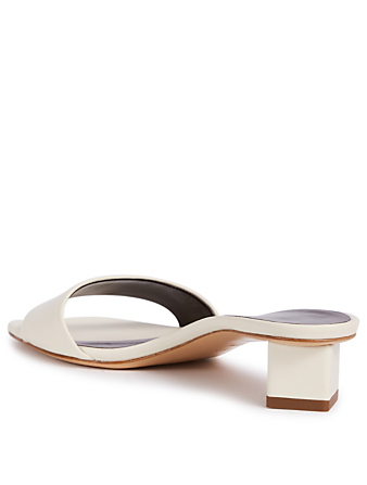 THE ROW Mules Chocolate en cuir Femmes Blanc