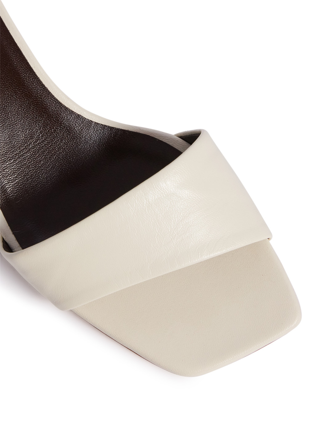 THE ROW Chocolate Leather Mules Women's White