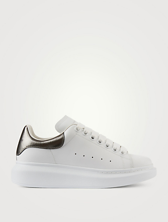 ALEXANDER MCQUEEN Oversized Leather Sneakers Womens Black
