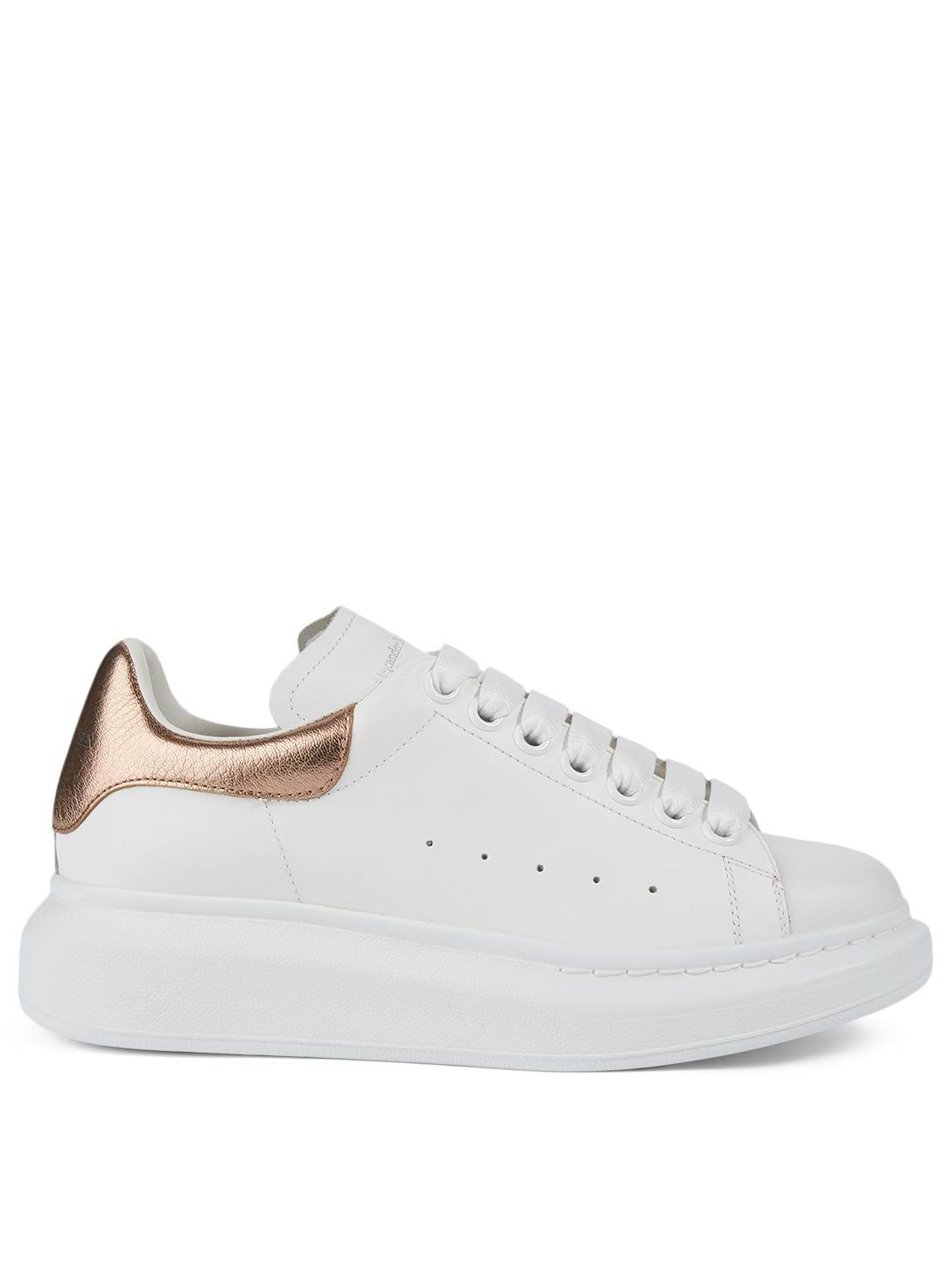 ALEXANDER MCQUEEN Oversized Leather Sneakers Women's Metallic