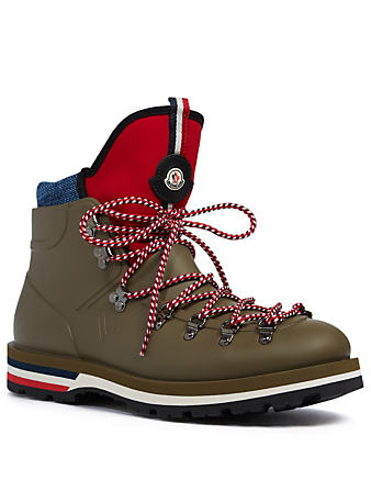 MONCLER Henoc Rubber Hiking Boots Men's Grey