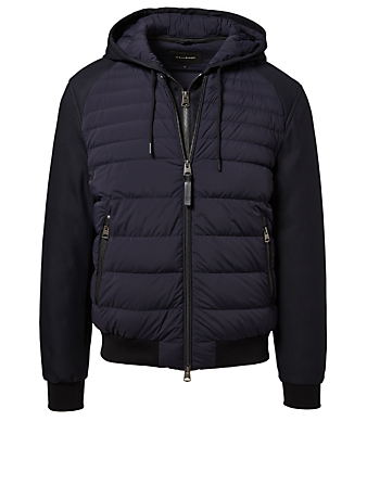 MACKAGE Eryk Down Bomber Jacket Men's Blue
