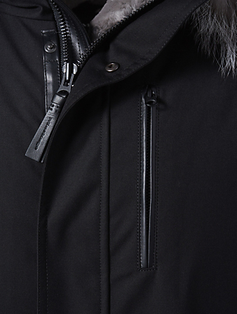 MACKAGE Moritz XH Parka With Camo Fur Hood Men's Black
