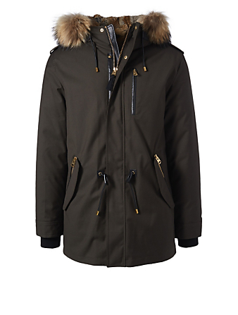 MACKAGE Seth Down Parka With Fur Men's Green