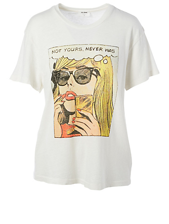 RE DONE Not Yours Graphic T-Shirt Women's White