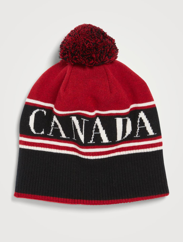 81b0f19997b CANADA GOOSE Wool Canada Toque With Pom   Holt Renfrew