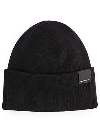 CANADA GOOSE Merino Wool Toque Womens Black