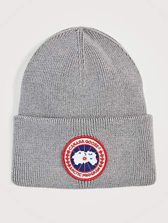 CANADA GOOSE Wool Arctic Aviator Disc Toque Womens Grey