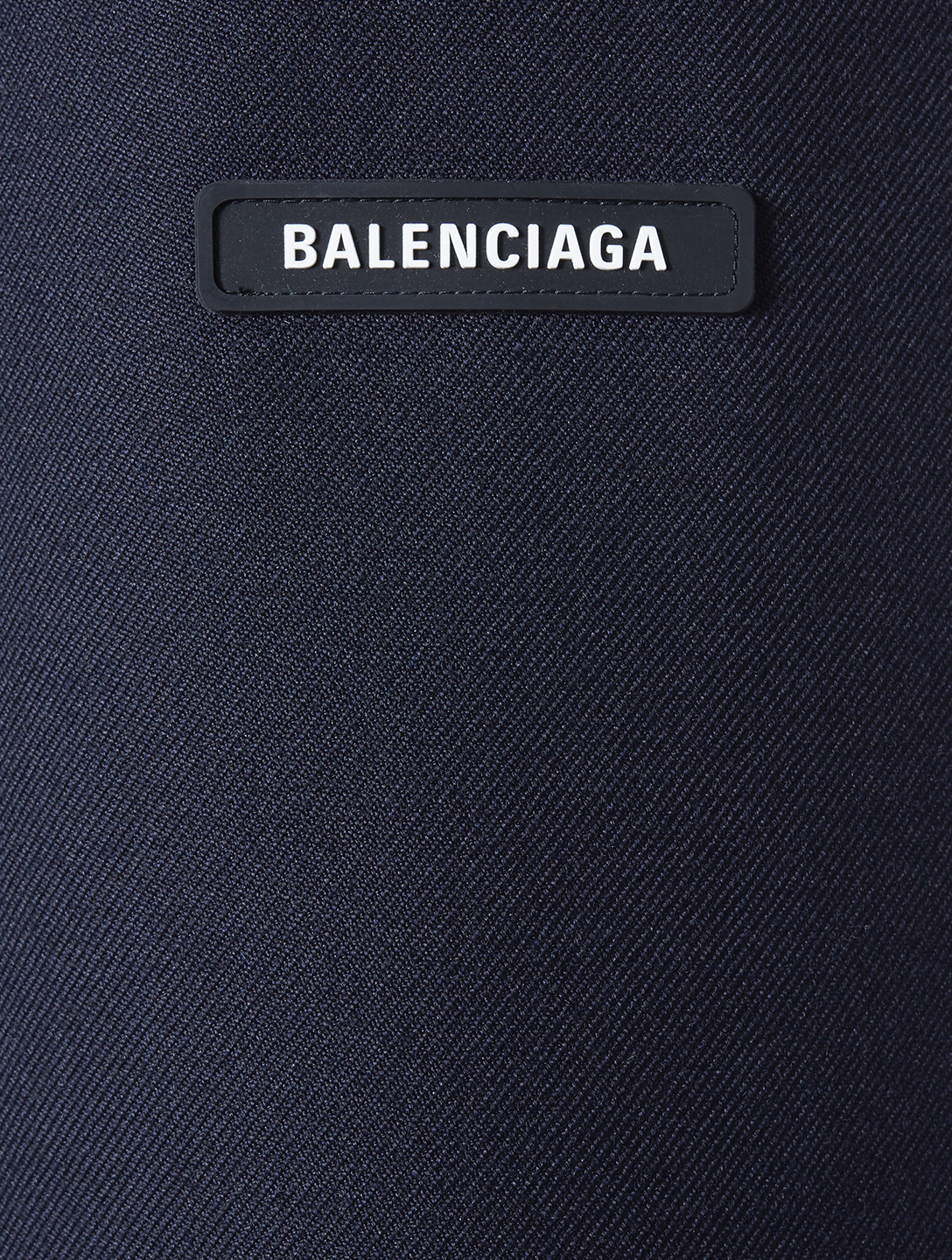BALENCIAGA Wool Military Coat Men's Blue