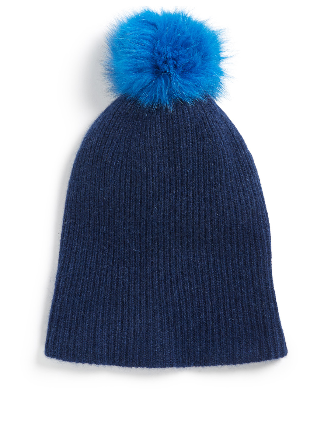 WHITE & WARREN Cashmere Toque With Pom-Pom Collections Blue