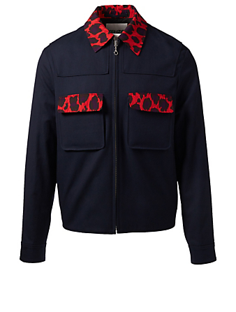 KENZO Workwear Bomber Jacket Men's Blue