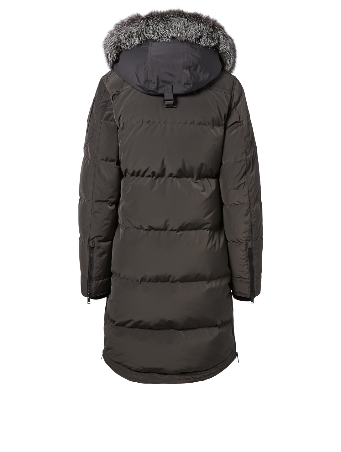 MOOSE KNUCKLES Salmon River Parka With Fur Trim Womens Brown
