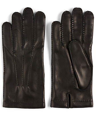 PORTOLANO Nappa Leather Gloves Men's Black