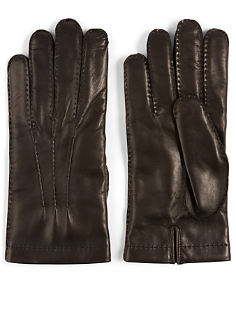 PORTOLANO Nappa Leather Gloves Men's Brown