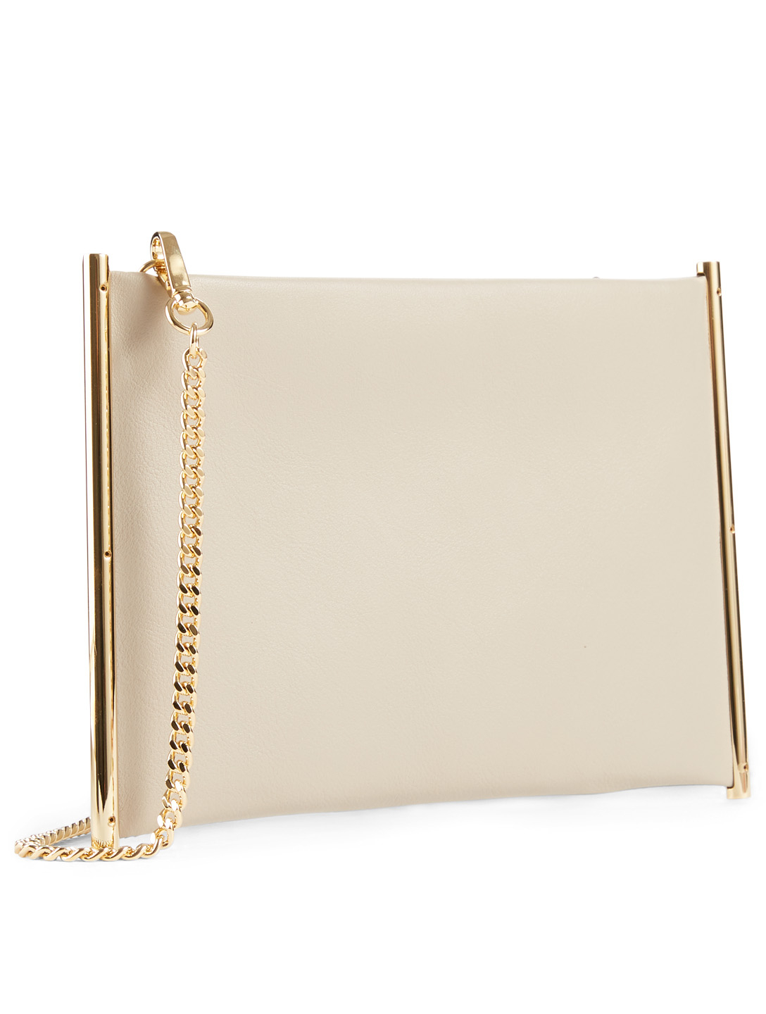 CHLOÉ Small Roy Leather Chain Pouch Bag Women's Grey