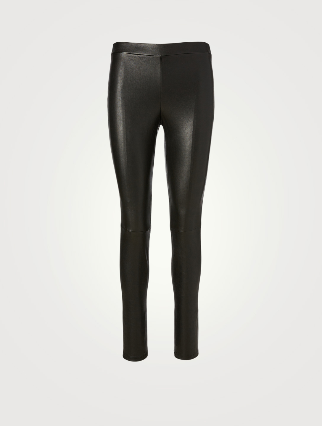 THEORY Leather Skinny Leggings Women's Black