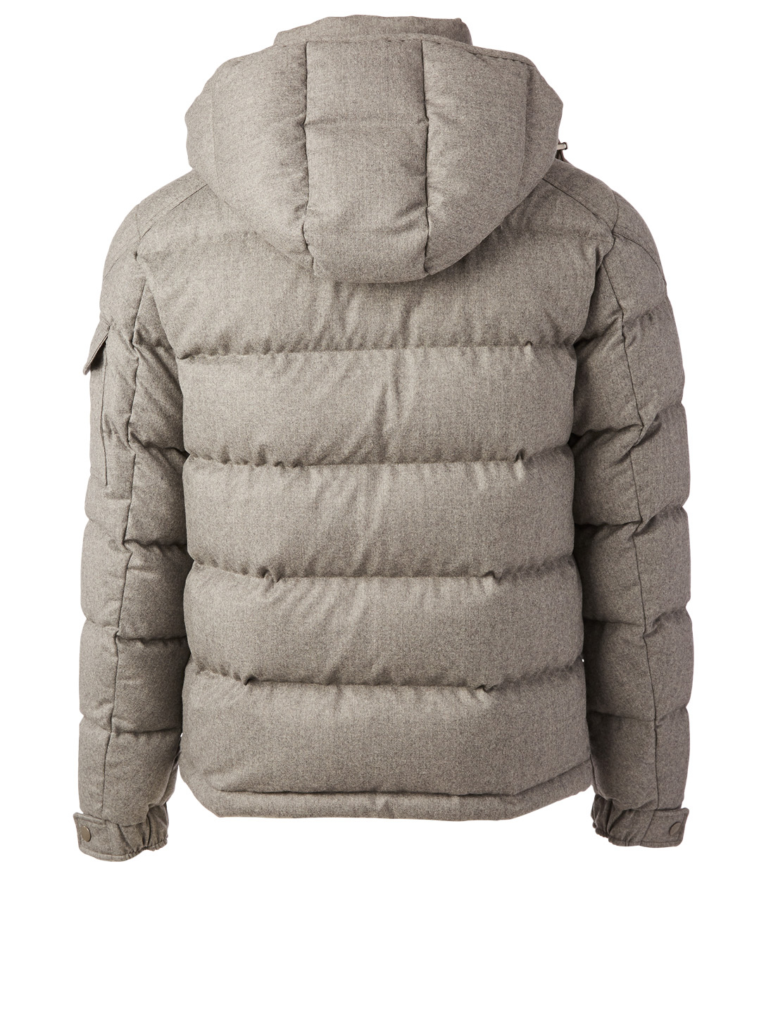 MONCLER Montgenevre Flannel Down Puffer Jacket Men's Grey
