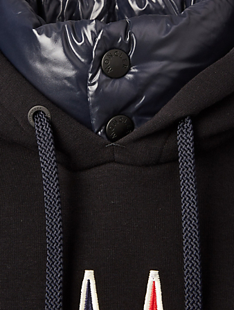 MONCLER GRENOBLE Fleece Hoodie With Logo Designers Blue