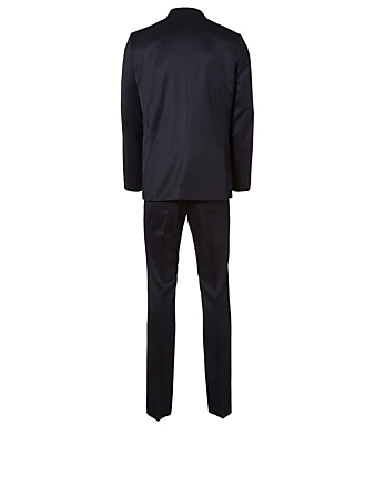 THE ROW David Twill Wool Suit Men's Blue