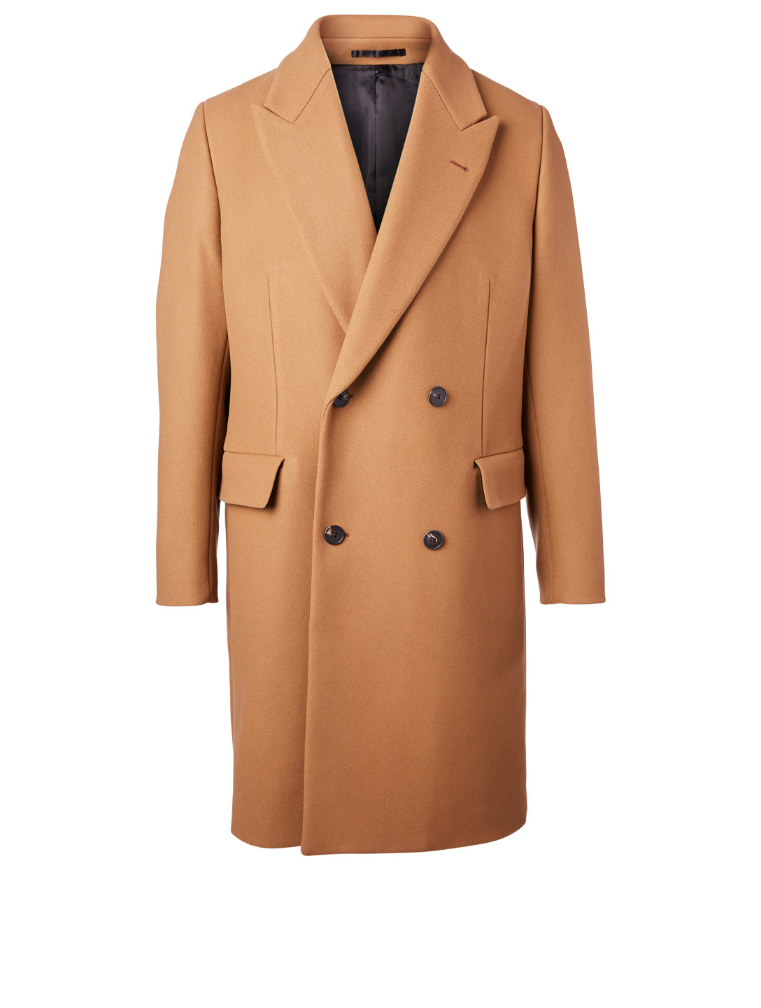 THE ROW Mickey Cashmere Double-Breasted Overcoat Men's Neutral
