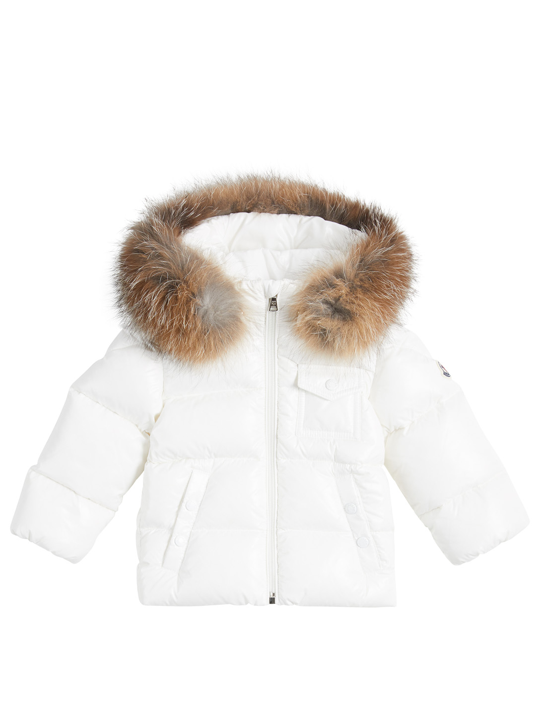 2d76e8d29340 MONCLER ENFANT K2 Unisex Puffer Coat With Fur Trim