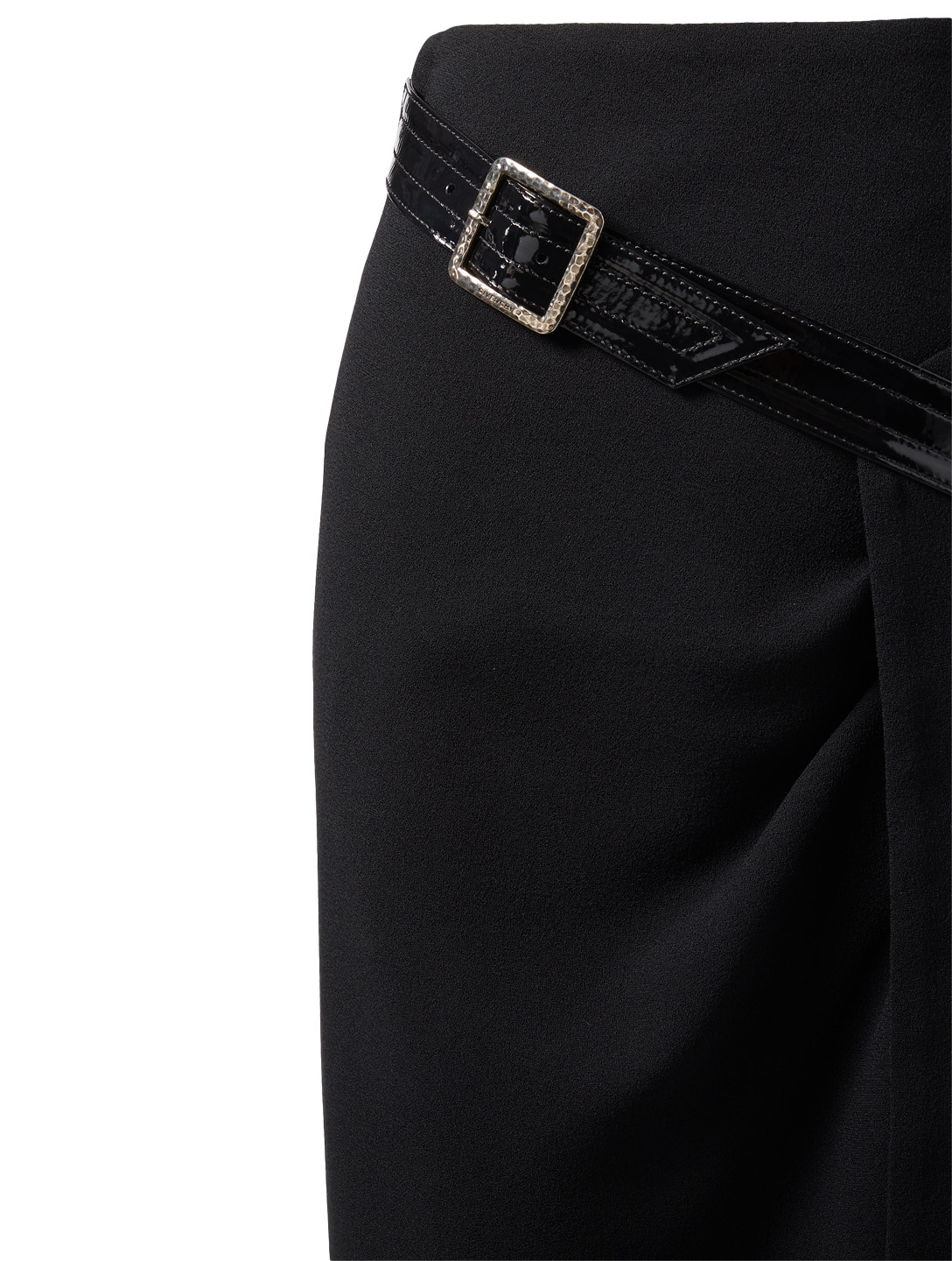 GIVENCHY Wool Pencil Skirt With Belt Womens Black