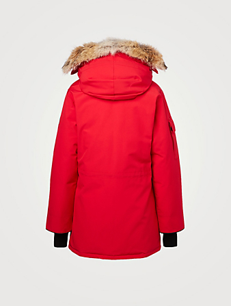 CANADA GOOSE Expedition Down Parka With Fur Womens Red