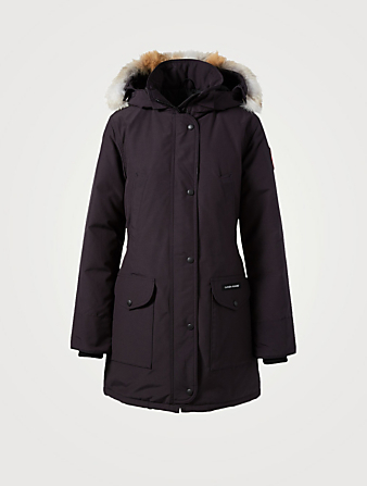 CANADA GOOSE Trillium Down Parka With Fur Womens Blue