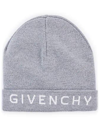 GIVENCHY Wool Toque With Logo Collections Grey