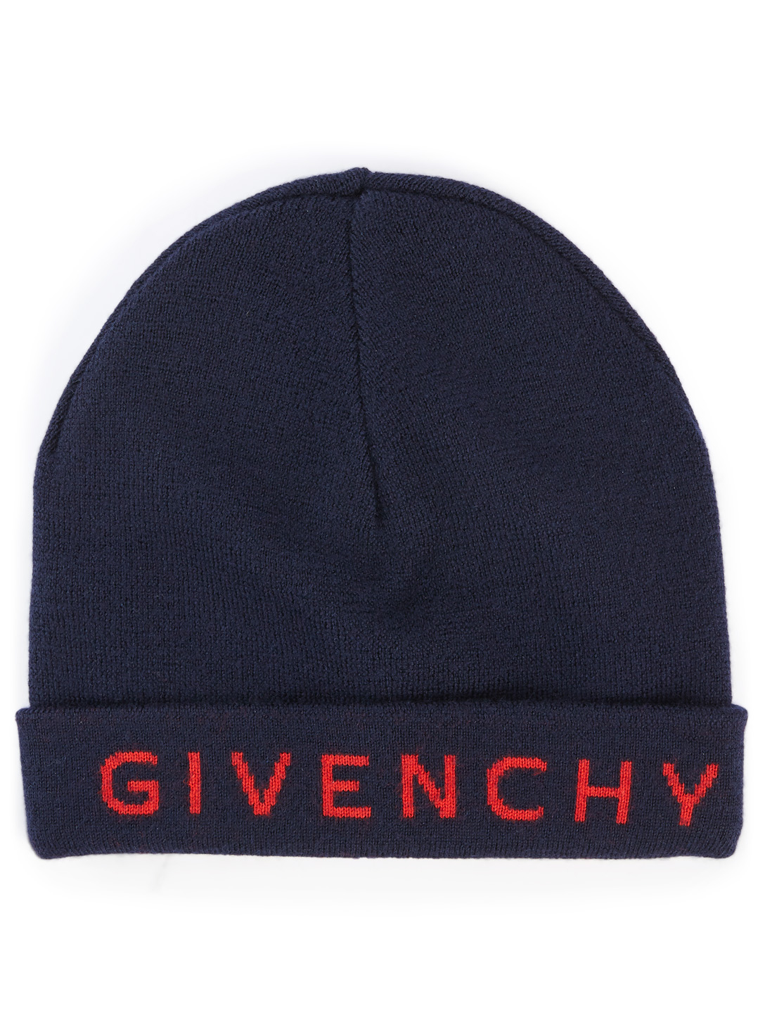 GIVENCHY Wool Toque With Logo Collections Blue