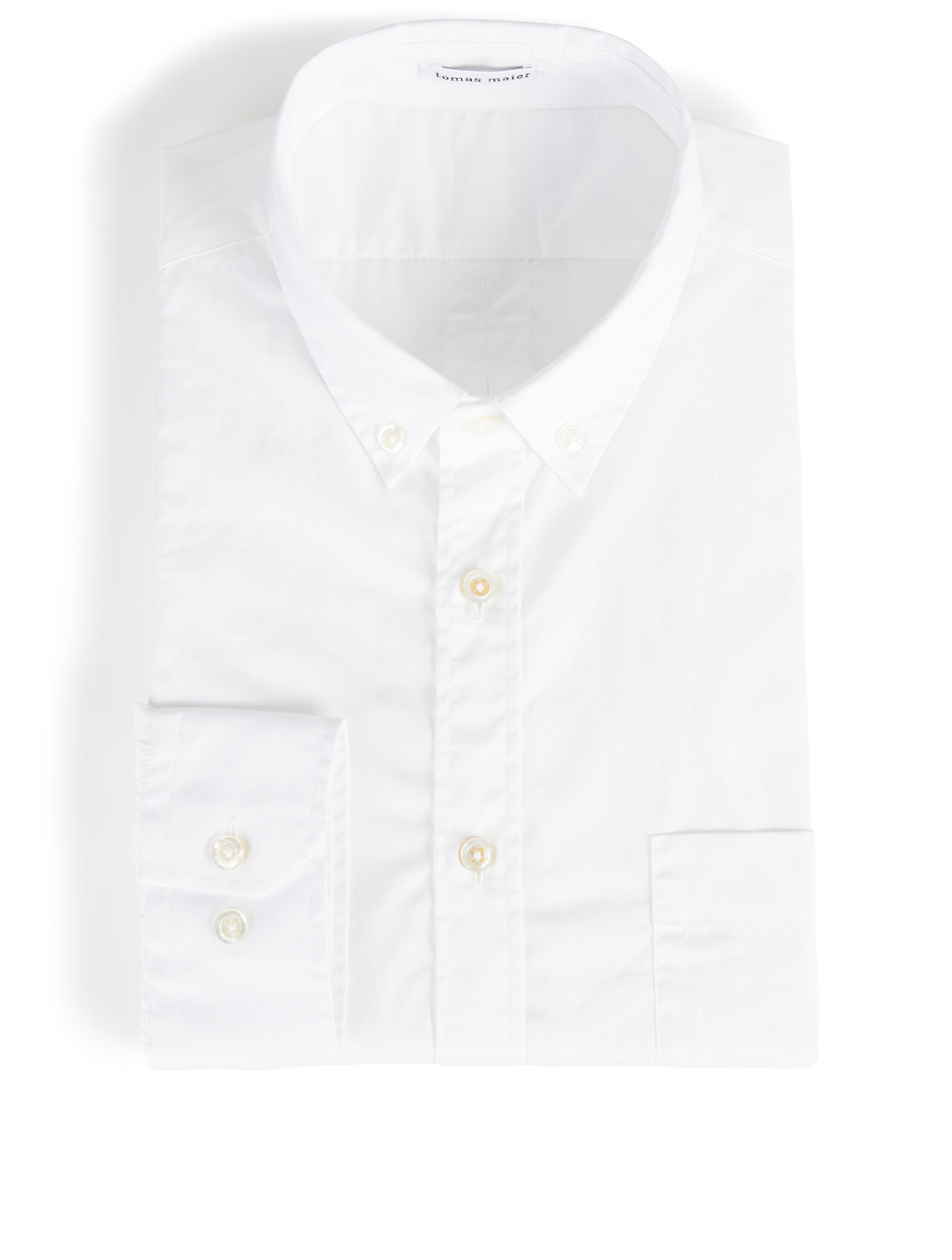 TOMAS MAIER Twisted Poplin Button-Down Shirt Men's White