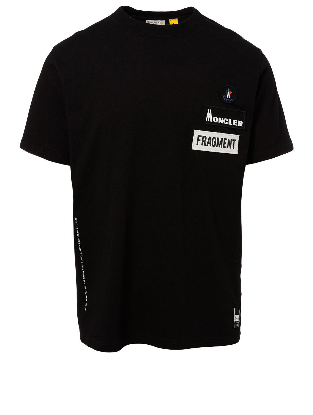 MONCLER GENIUS 7 Moncler x Fragment Logo Patch T-Shirt Men's Black