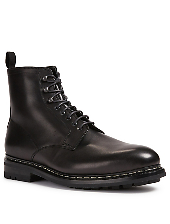 HESCHUNG Hetre Odeon Leather Lace-Up Boots Men's Black