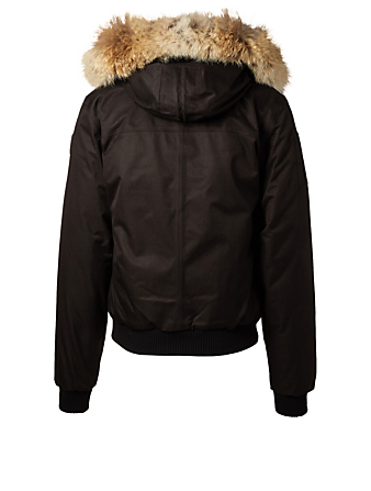 NOBIS Dylan Hooded Bomber Jacket With Fur Trim Men's Black