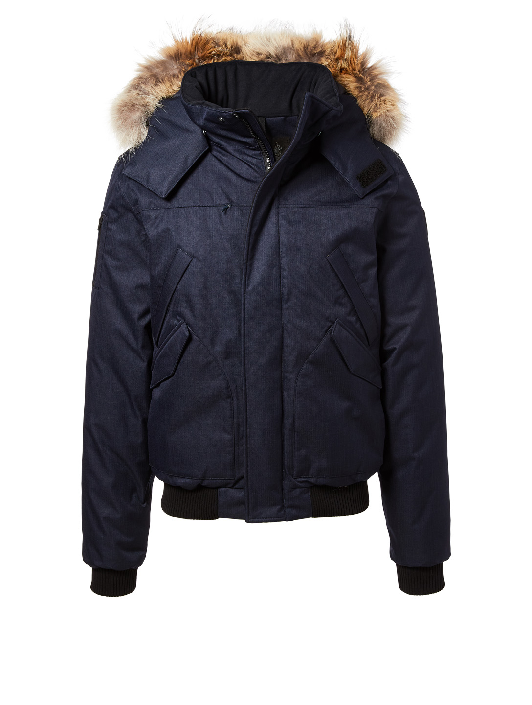 NOBIS Dylan Hooded Bomber Jacket With Fur Trim Men's Blue