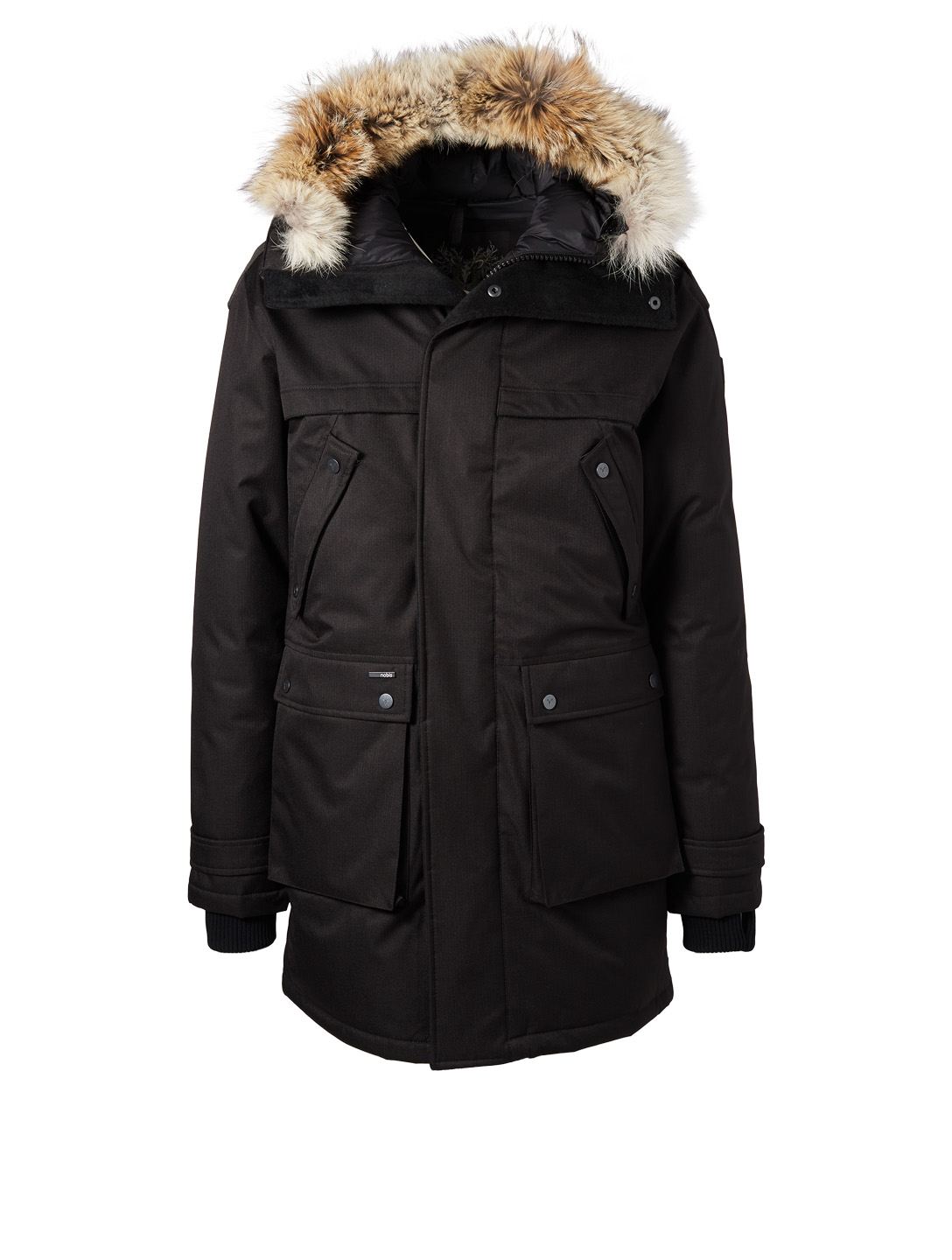 NOBIS Yatesy Long Parka With Fur Trim Men's Black