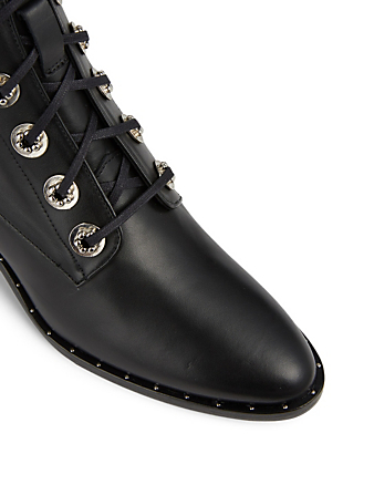 FREDA SALVADOR Ace Leather Lace-Up Boots Womens Black