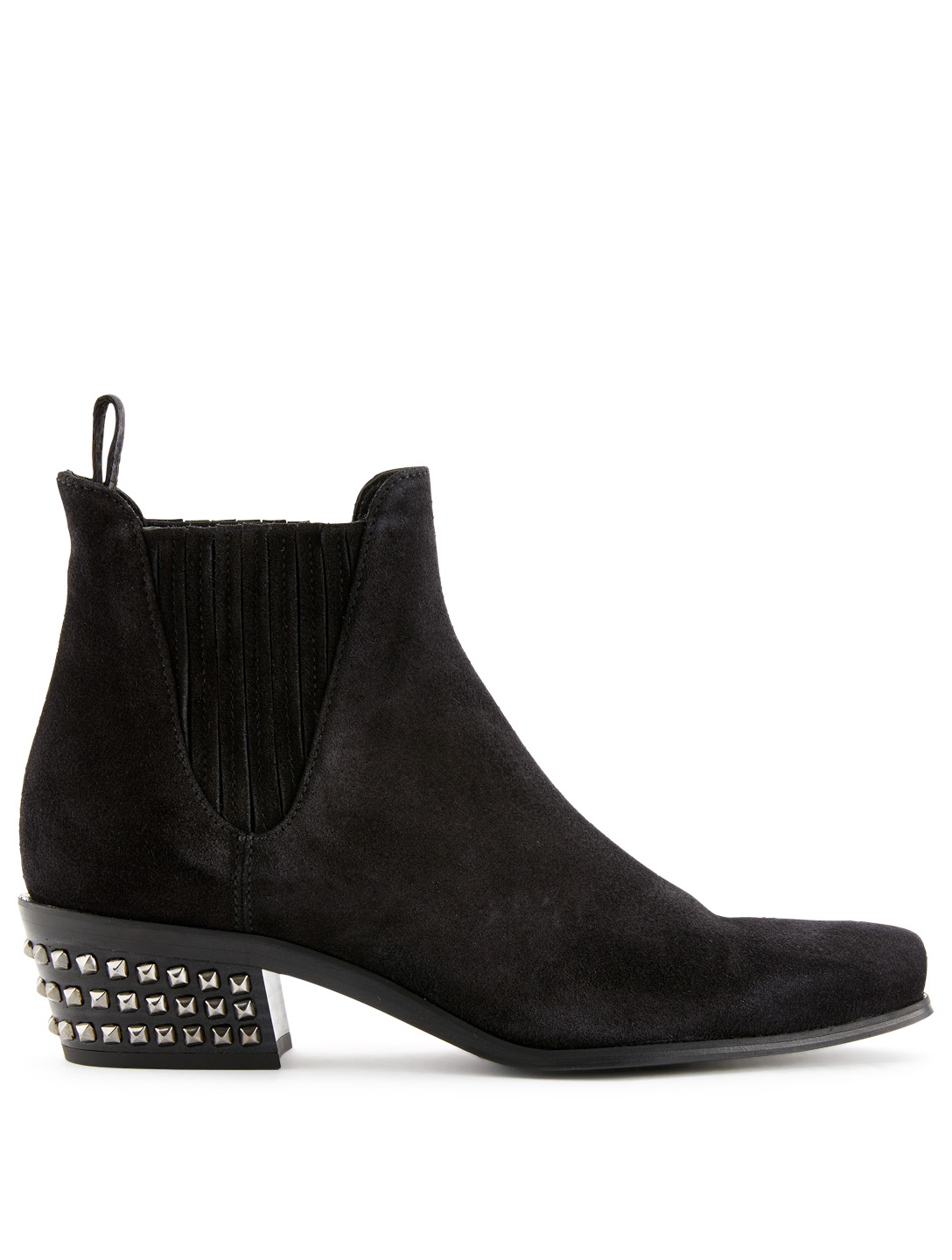 03e71580d87070 MIU MIU Suede Ankle Boots With Stud Detail Womens Black ...