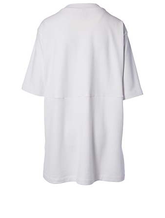 KOTN Boxy Cotton Sweatshirt Dress H Project White