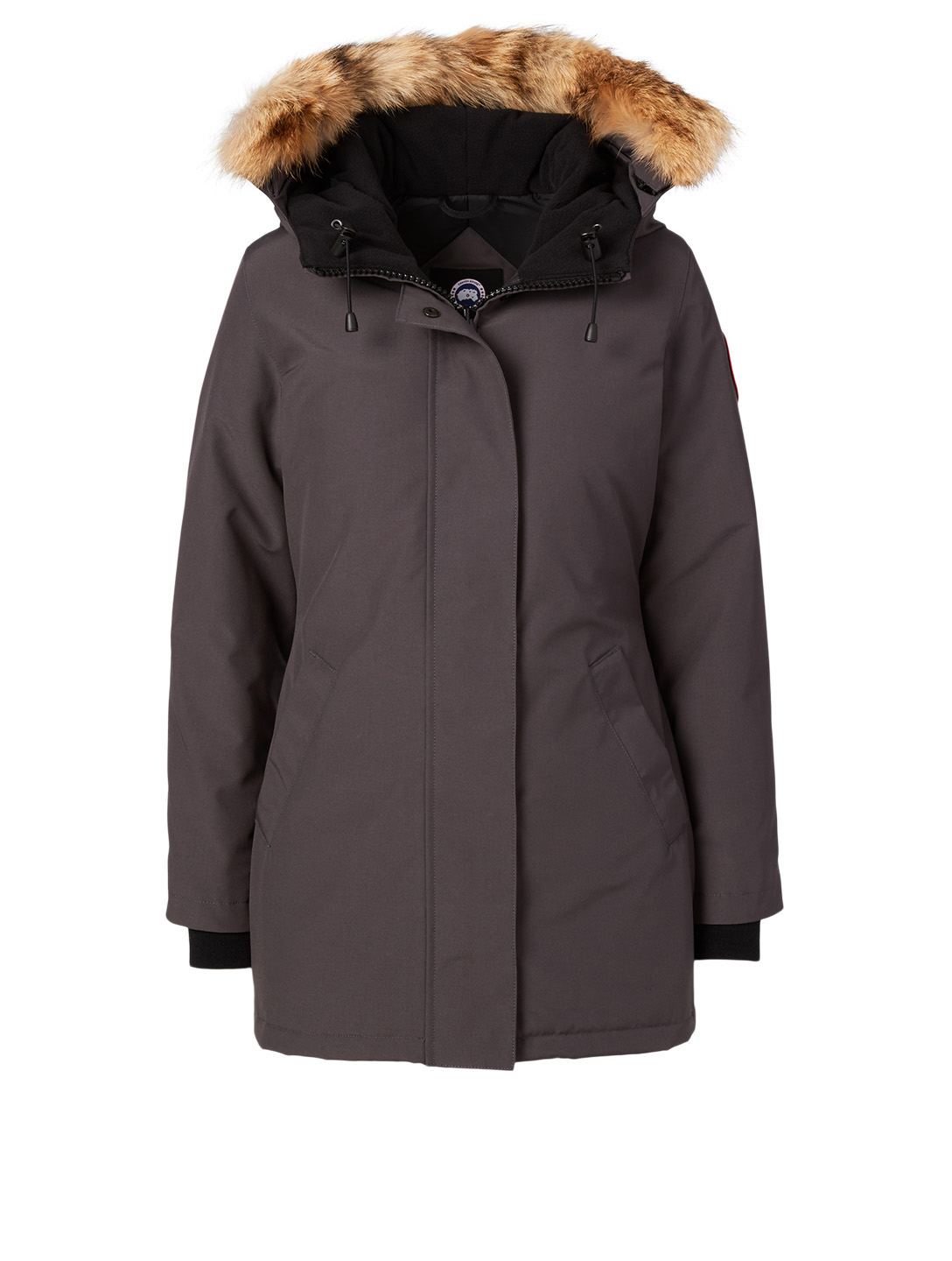 CANADA GOOSE Victoria Down Parka With Fur Hood - Fusion Fit Women's Grey