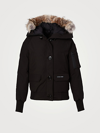 CANADA GOOSE Chilliwack Down Parka With Fur Hood Designers Black