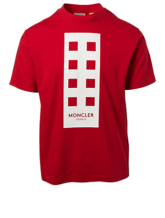 MONCLER GENIUS Tee-shirt 8 Moncler x Palm Angels Hommes Rouge
