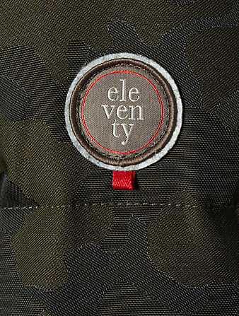 ELEVENTY Camouflage Parka With Fur Trim Men's Green